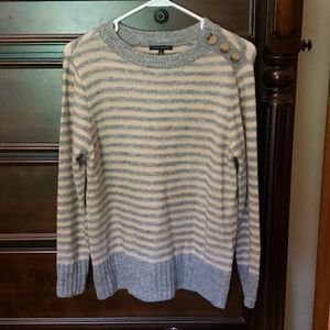 Staccato Beige/Gray Striped Sweater